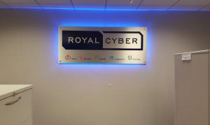 Royal Cyber Backlit Indoor Lobby Sign
