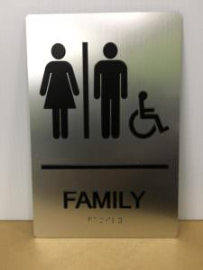Bathroom Compliant ADA Sign