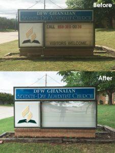 Monument Sign Repair