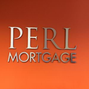 Perl Mortgage Channel Letter Lobby Sign