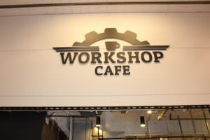 Workshop Cafe Lobby Sign