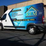 REM Custom Commercial Van Wrap